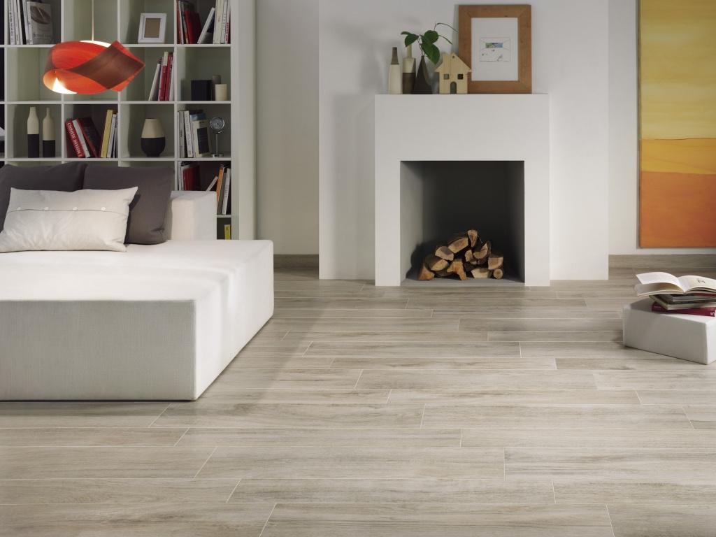 Dlažba s imitací dřeva Ascot Focus White