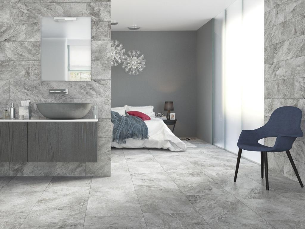 Koupelna z šedého kamene  Refin Petrae Savoie Ash
