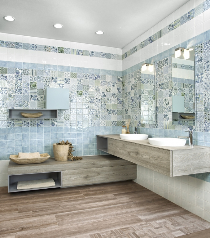 Obklady do panelákové koupelny ukázky Del Conca AG Agata Preziosi Cobalto