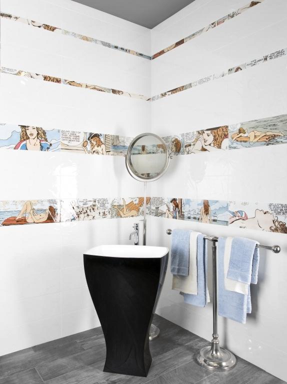 Interiér koupelny fotografie Del Conca BG Milo Manara Cloe