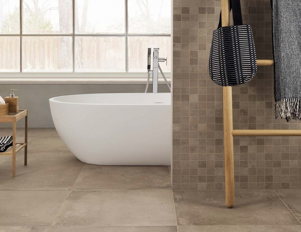 Dlažba v koupelně Coem Ceramiche Cottocemento Brown & Mos. Brown