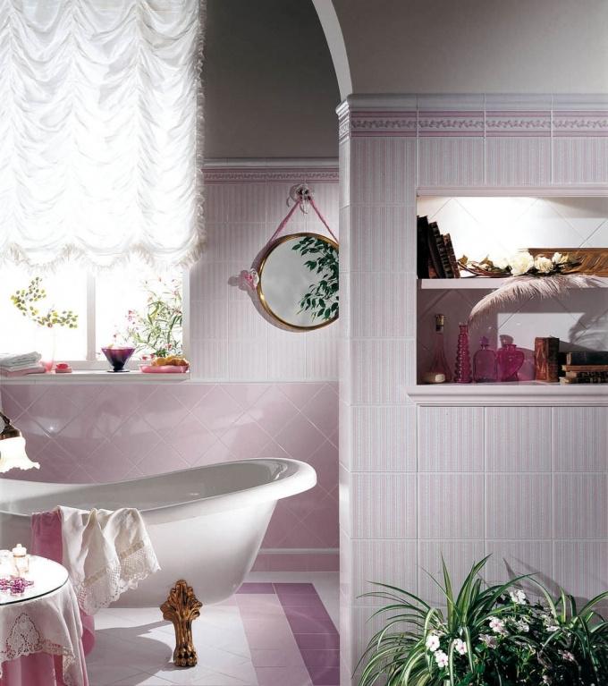 Retro koupelna Brennero  Ricordi Country Rosa & Navy