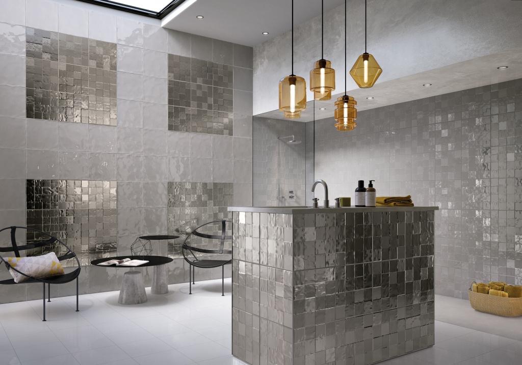 Obklady koupelna levně Naxos Shard Square Grey