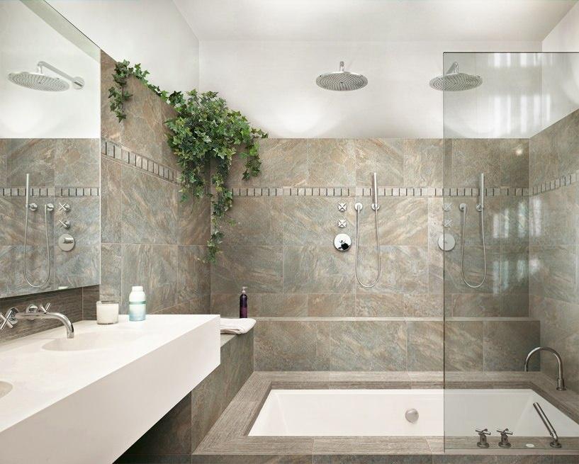 Moderní koupelna fotogalerie inspirace Cerdomus Dome Walnut