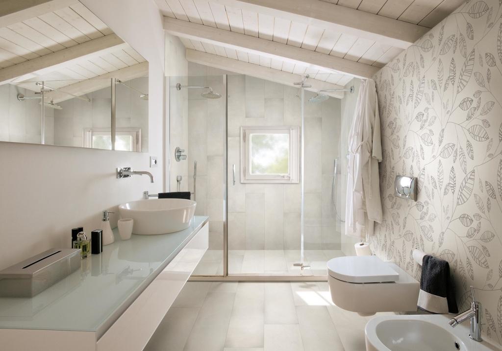 Podkrovní koupelny inspirace foto Cerdomus Chrome White