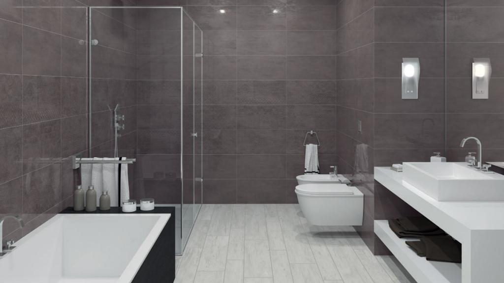 7aeb350a3d5 ... Rekonstrukce koupelny fotogalerie inspirace Ceramic Board Dark Grey    Decor Patchboard Dark ...