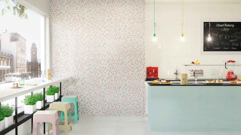 Nová koupelna v paneláku Aleluia Ceramicas Cloud Pixel & Ivory