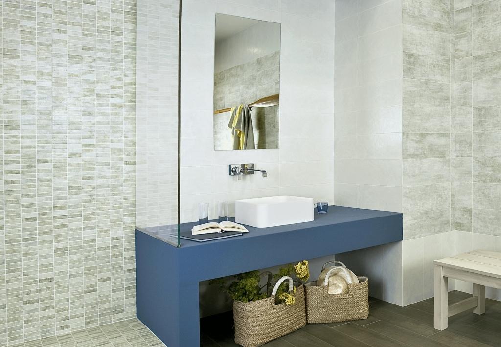 Obklady a obdélníková mozaika do koupelny Del Conca SO Evoque - SO 19 & EM 19