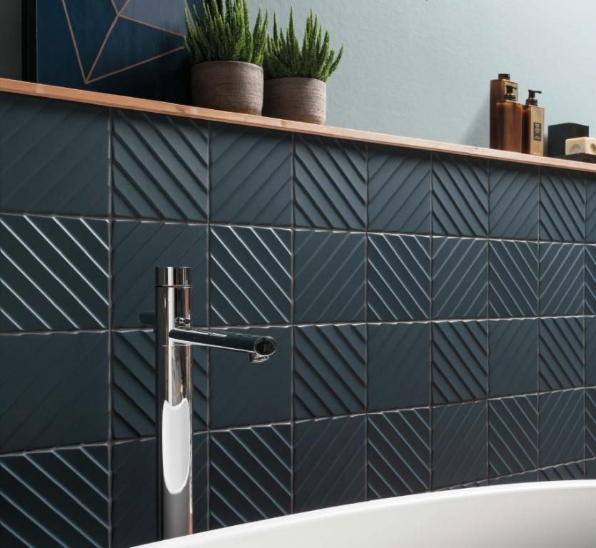 3d obklady koupelny Marca Corona 4D Deep Blue Diagonal