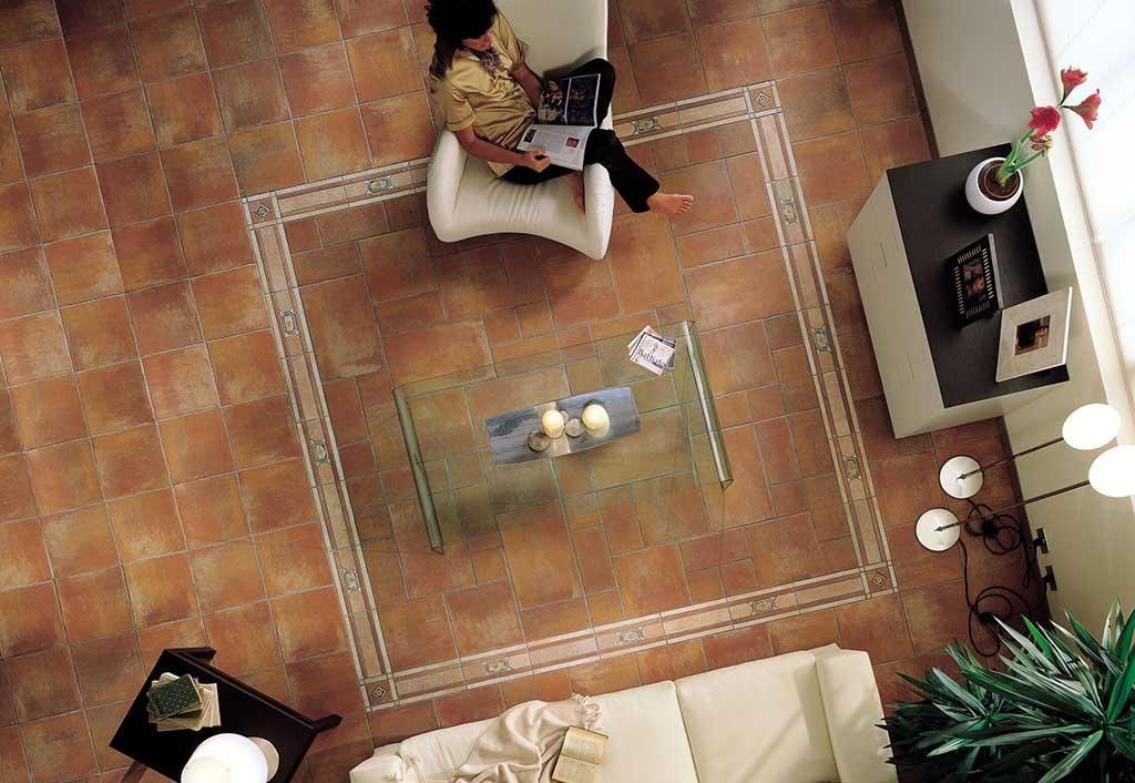 Cihlová dlažba s dekorem Sichenia Pavé Duemila Rosso 15x15, 15x30, 30x30