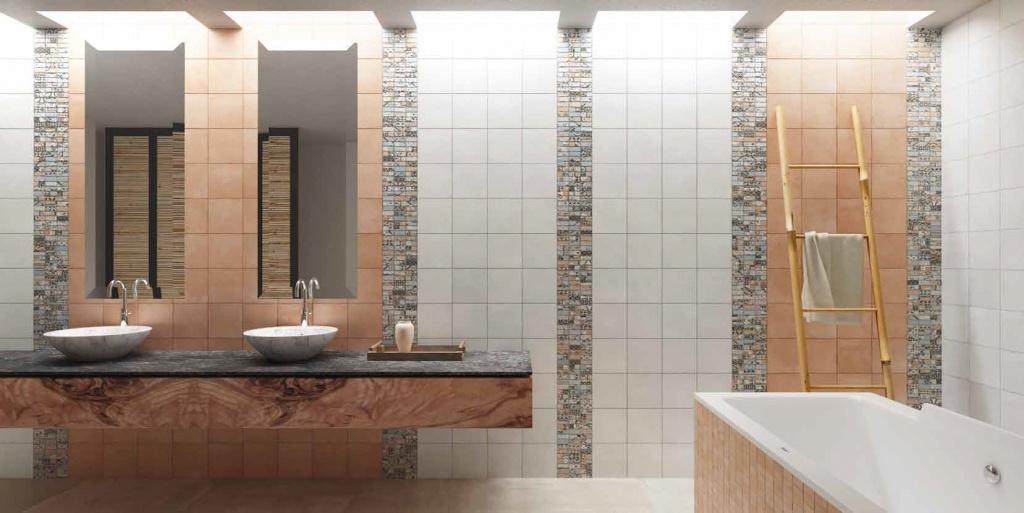 Moderní retro koupelna Del conca Abbazie AB18, AB8 a  Notre Dame Mosaico