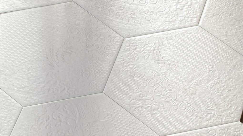Bílá šestihranná dlažba Codicer Milano Hex 25 White