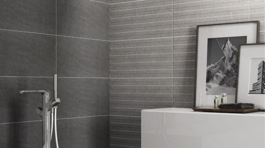 Šedá koupelna Codicer Basalt Black a Basalt Silver Line