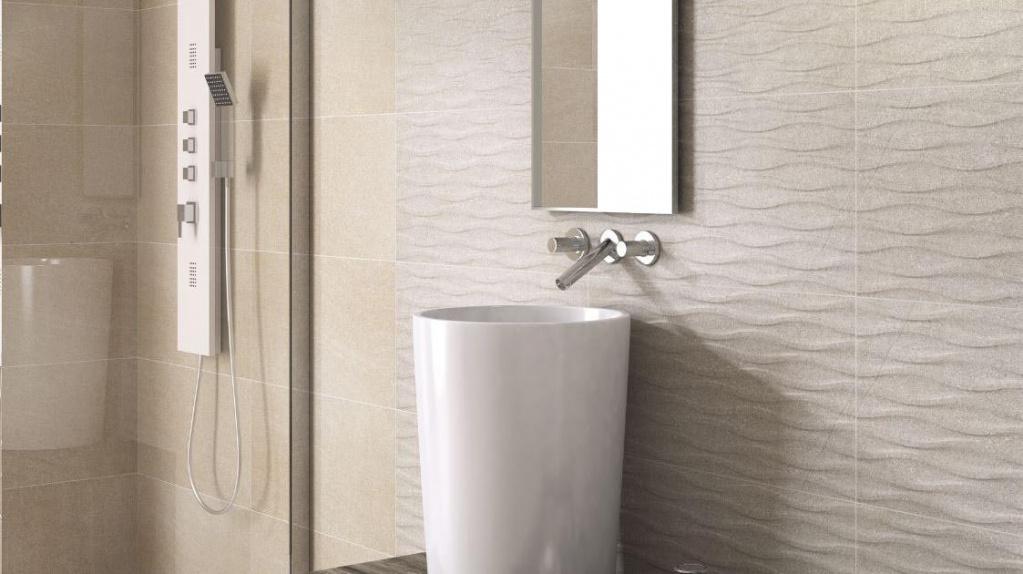 Béžová kamenná koupelna Codicer Basalt Sugar Wave a Basalt Cream