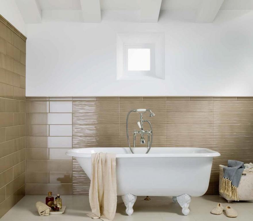 Hnědé koupelnové obklady s reliéfem Grazia Impressions