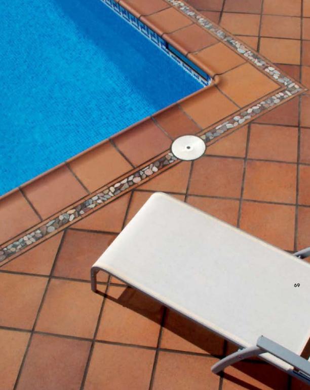 hnědá bazénová rustikální dlažba CEXAGRES série PROYECTOS