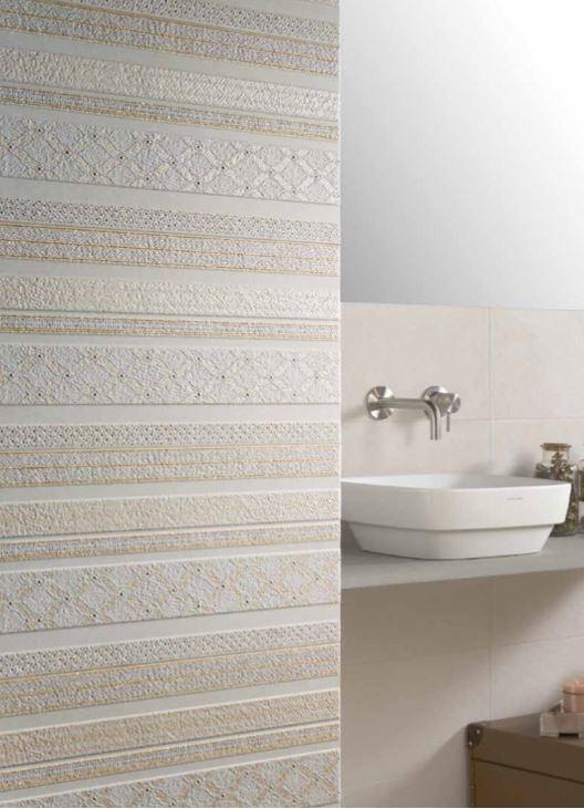Obklad do koupelny Azuvi Origin Dec Luxe White