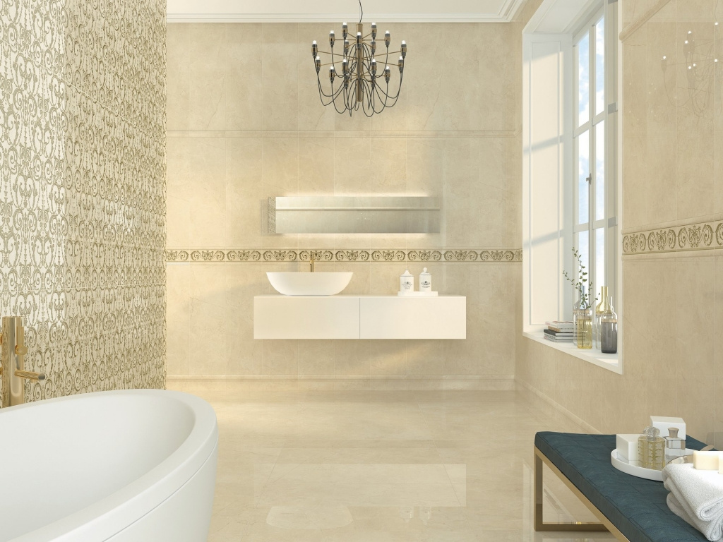Luxusní obklad do koupelny se vzory od výrobce Ape Excellence
