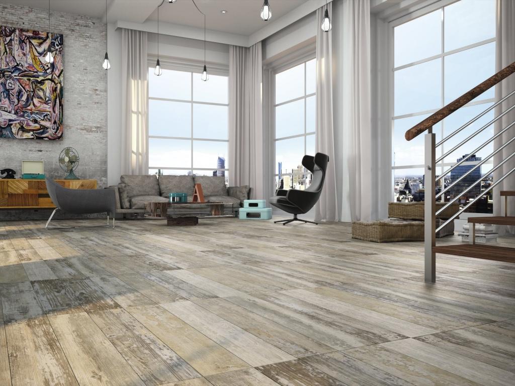 Dlažba imitace staré dřevěné podlahy APE Dakota