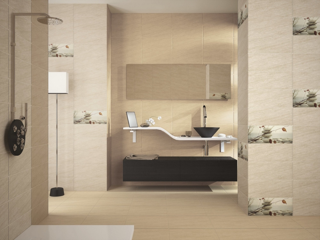 Moderní světlý obklad s motivem kamenů do koupelny od výrobce Ape Globe