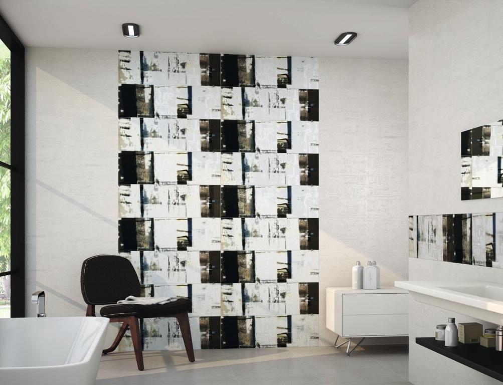 Obklad do koupelny se vzorem bílo-černé Ape-Llaneli