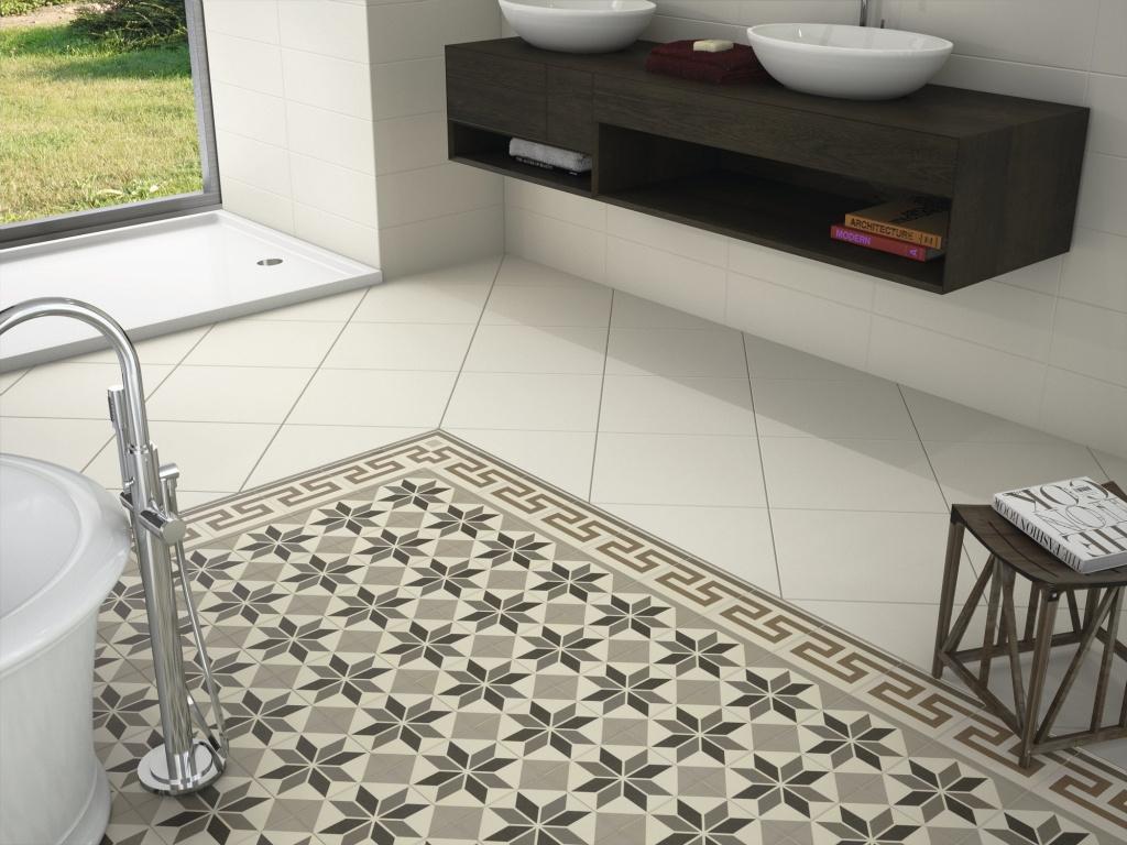 Dlažba se vzory do koupelny od výrobce Ape Home