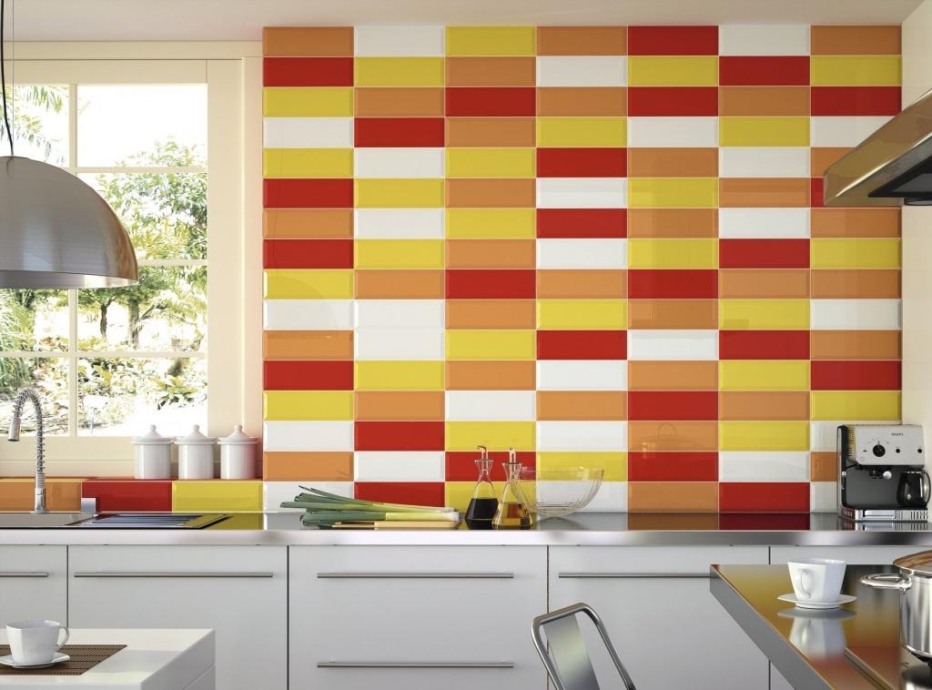Obklad do kuchyně červeno-žlutý Ape-Loft