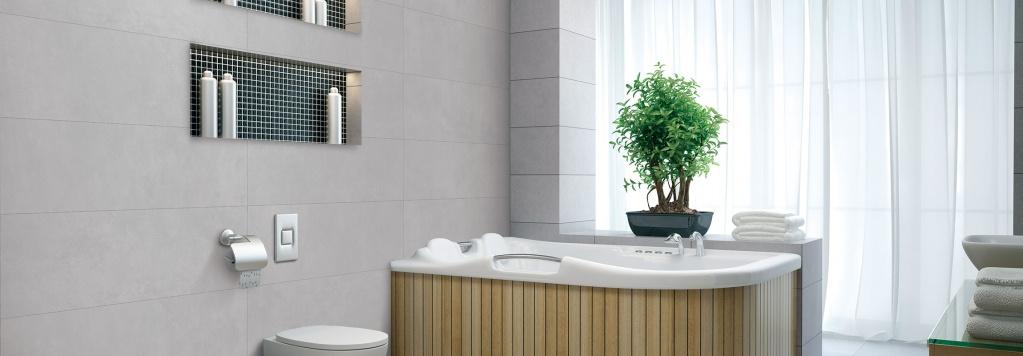 Šedý koupelnový obklad od výrobce Cicogres Horizon