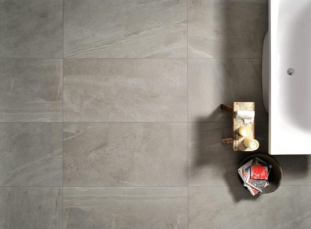 Šedo-béžová dlažba do koupelny od výrobce Coem Ceramiche Brit Stone