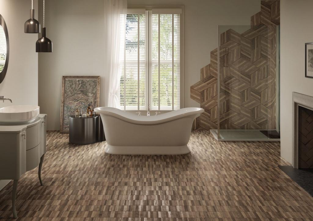 Keramická podlaha v barvě ebenu SETTECENTO Wooddesign