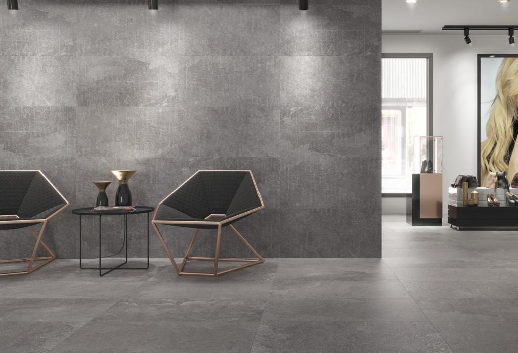 Obklad šedý do velkých prostorů, Cristacer Board