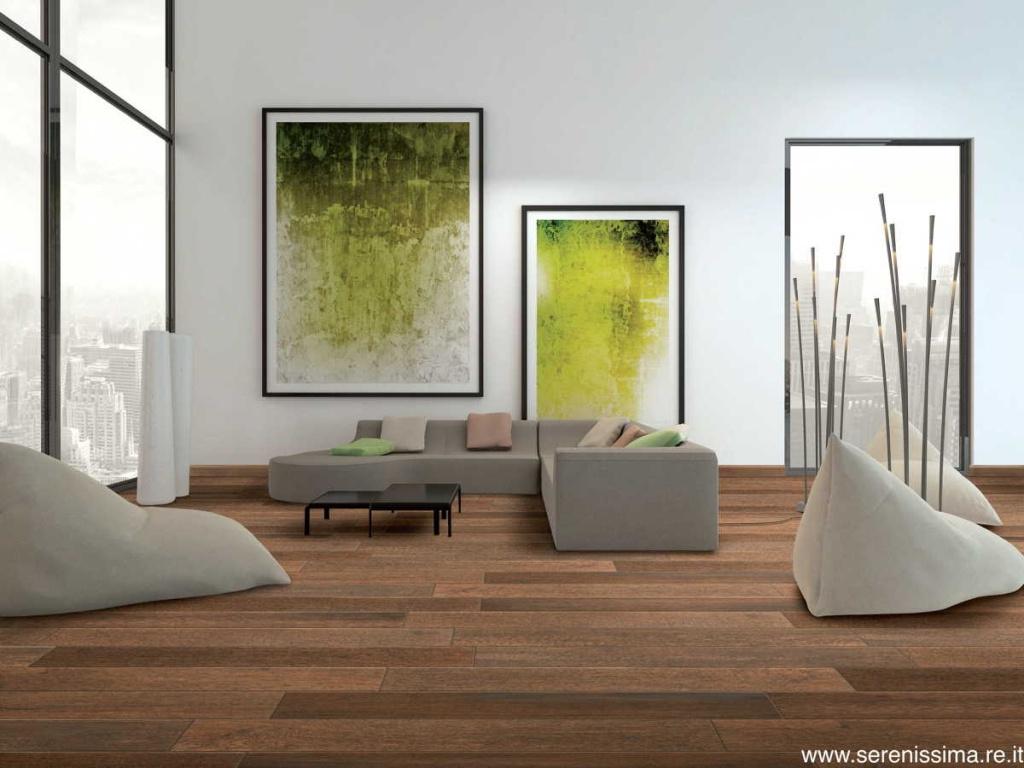 Dlažba imitace dřeva Serenissima Living Wood Brown