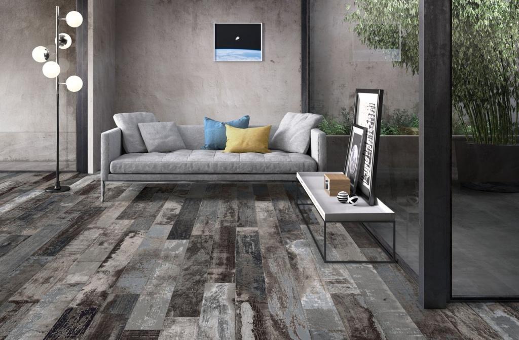 DLAŽBA se strukturou jako dřevo v různých odstínech Sant Agostino Colorart