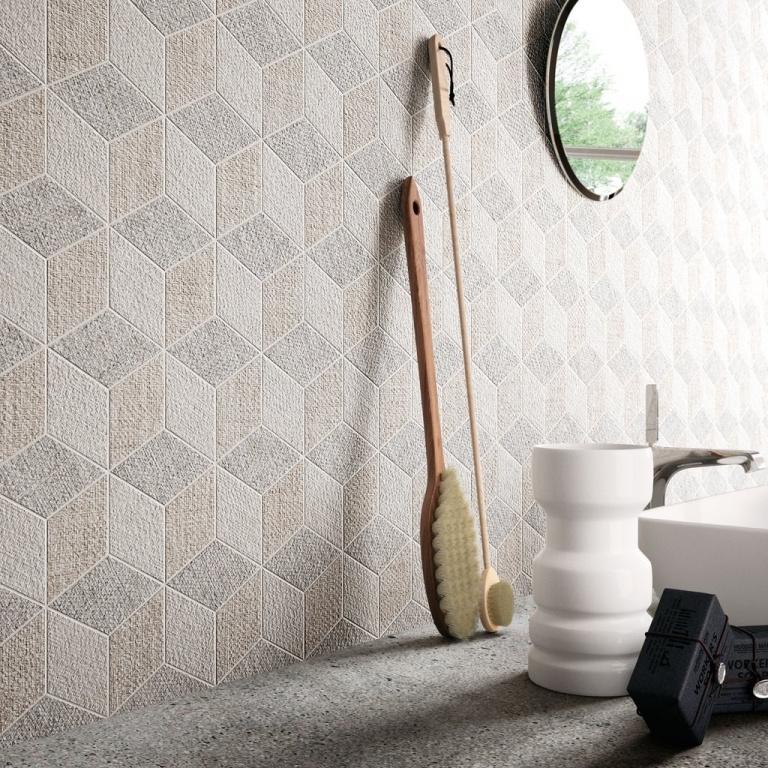 Zajímavý obklad do koupelny od výrobce Sant Agostino Fineart