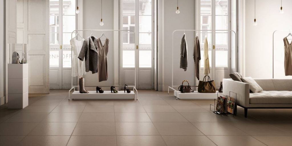 Světlá béžová dlažba do interiérů od výrobce Sant Agostino Flexible Architecture