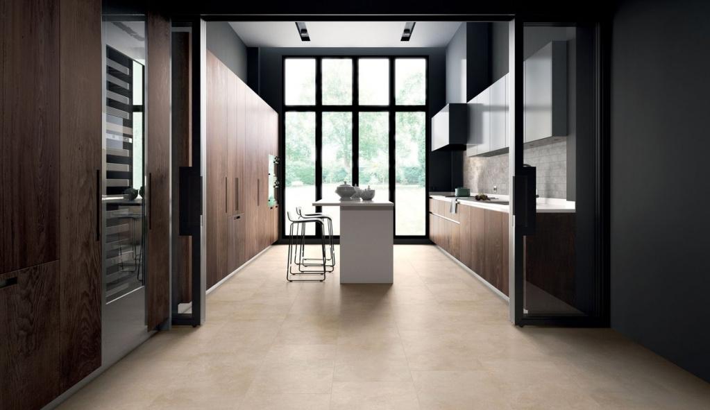 Světlá béžová dlažba v imitaci mramoru do kuchyně od výrobce Sant Agostino Themar