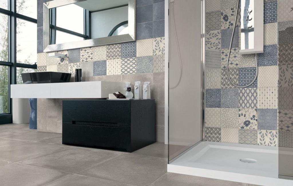 Čtvercové obklady s dekorem do koupelny od výrobce ELIOS D_Esign Evo