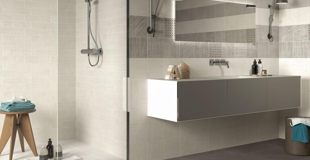 Obklady do koupelny s jednoduchými vzory od výrobce Elios Handmade