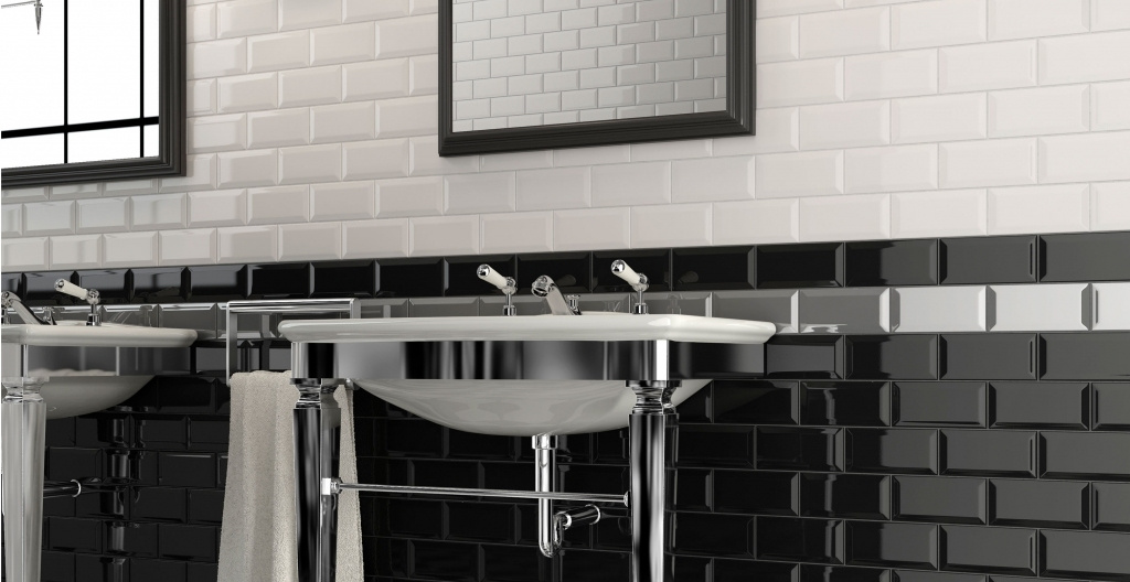 Černé, bílé a šedé obklady do koupelny od výrobce Elios Epoque
