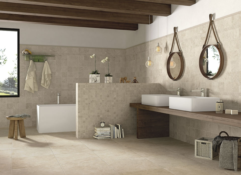 Obklad a dlažba do koupelny v přírodním vzhledu od výrobce Elios Roma