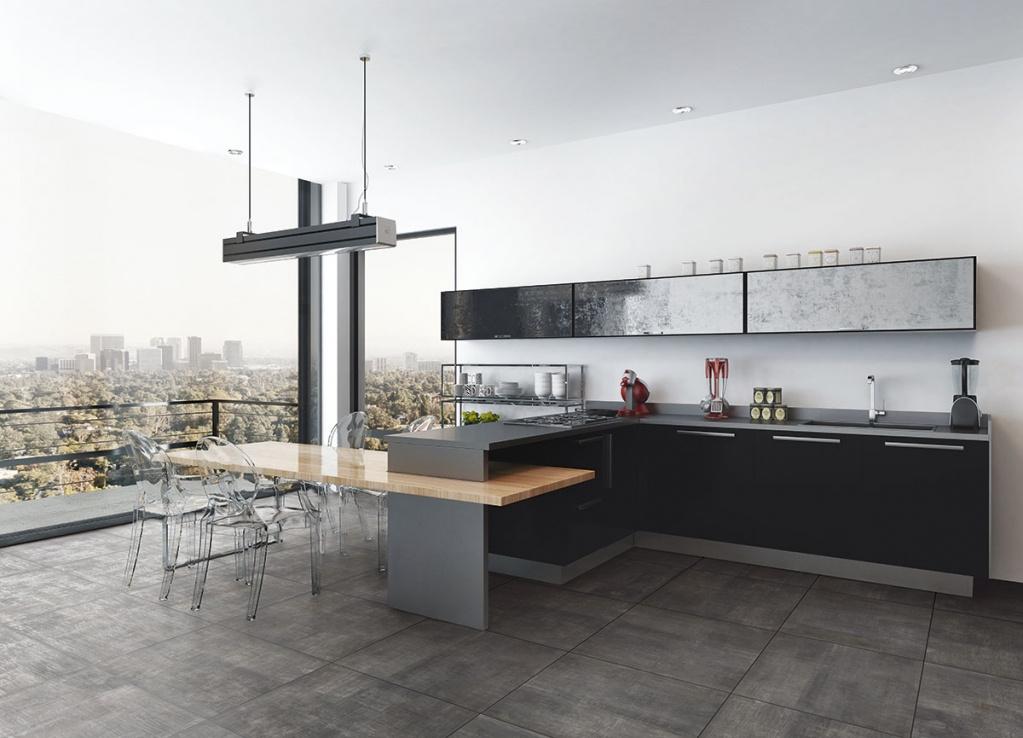 Antracitová dlažba vhodná do kuchyně od výrobce La Fenice Bronx