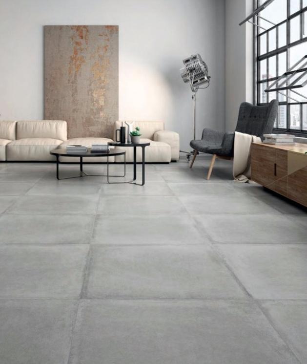 Matná šedá DLAŽBA v imitaci betonu Prissmacer Tradicion Gris