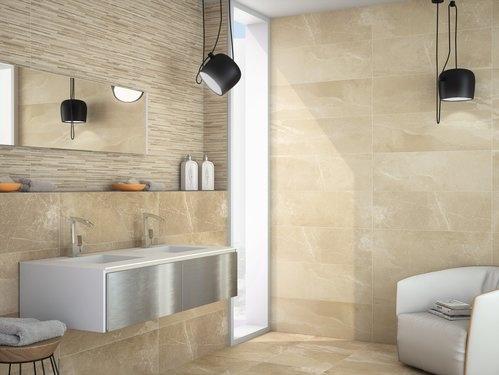 Béžový obklad do koupelny od výrobce Ape Arles
