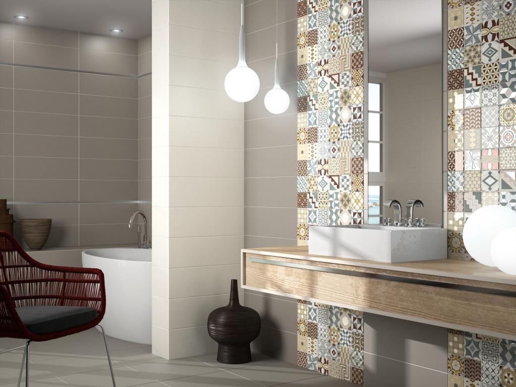 Elegantní koupelna s patchworkem od výrobce Ape Home