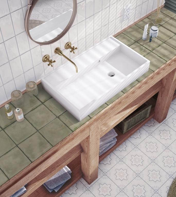 Moderní retro koupelna Equipe Splendours