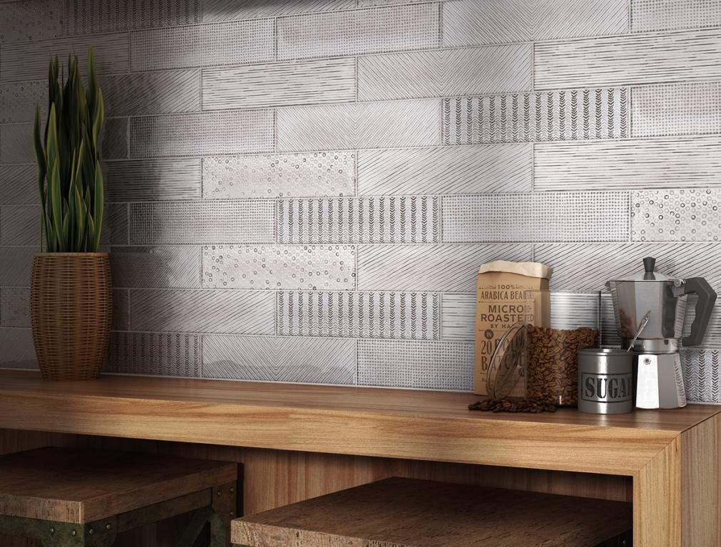 Dekorovaný jemný obklad Equipe Splendours Fabric Grey