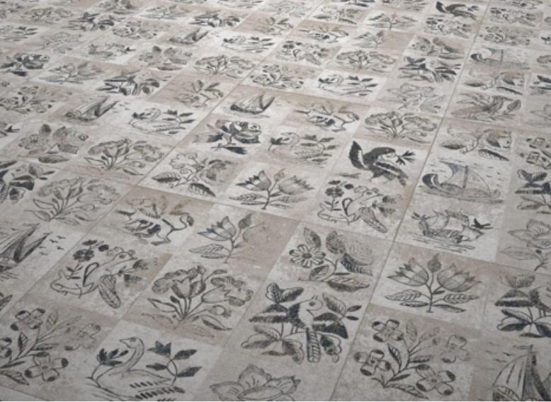 Holandský styl vzorů ptáků i květin dlažby Codicer Amsterdam 50x50
