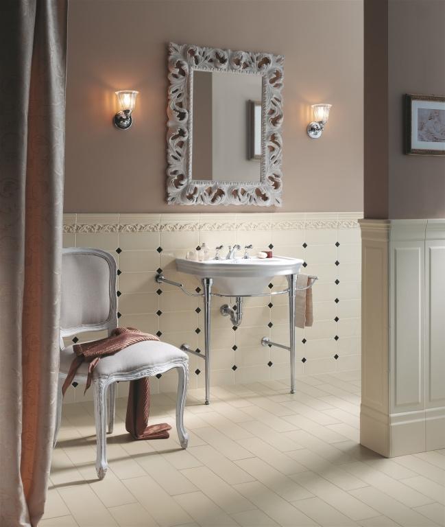 Romantický obklad do koupelny Ceramiche Grazia New Classic