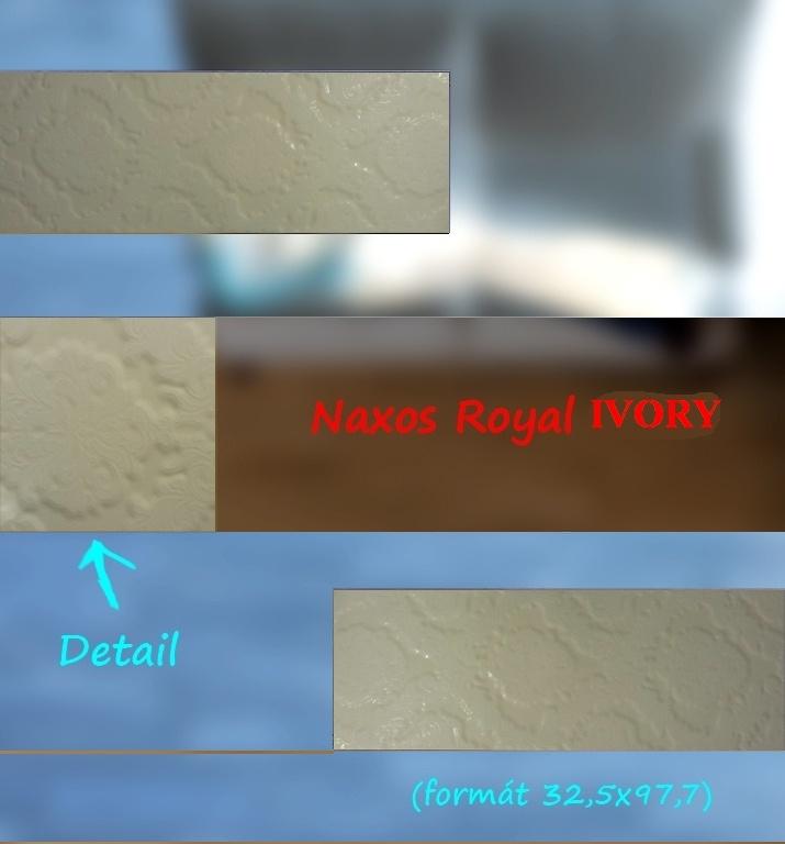 Krémové obklady s jemným vzorováním výprodej Naxos Ivory