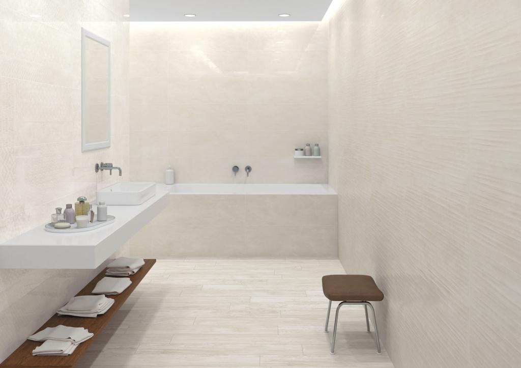 Obklady do malých koupelen Ceramic Board Cream & Decor Patchboard